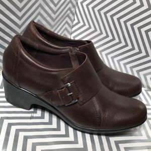 Clarks Genette Vista Pumps Brown Leather size 10 M